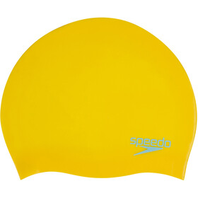 speedo Plain Moulded Siliconen Badmuts Kinderen, empire yellow/chill blue